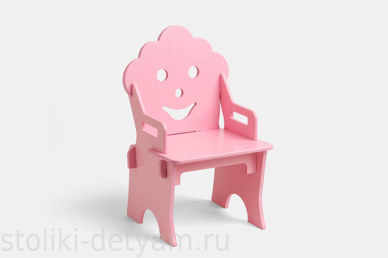 """Детский стульчик """"Гном"""", розовый СГ-Р Столики Детям"""