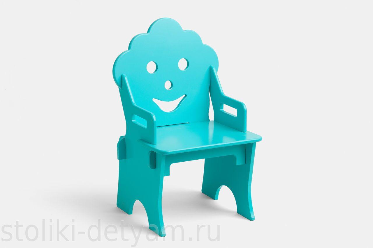 """Детский стульчик """"Гном"""", бирюзовый СГ-Б Столики Детям"""