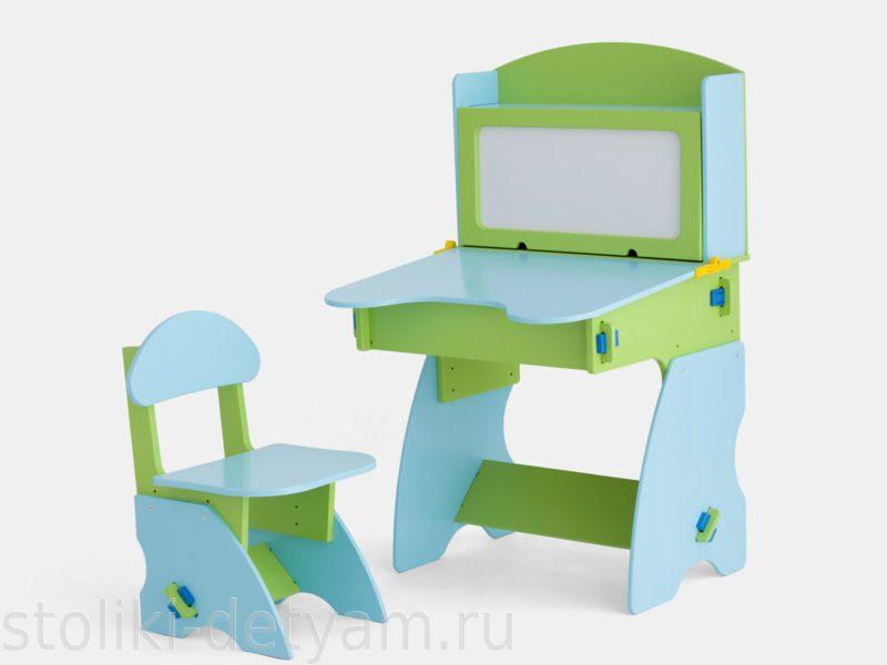 Детский столик с магнитной доской, салатово-голубой СГ-1 Столики Детям