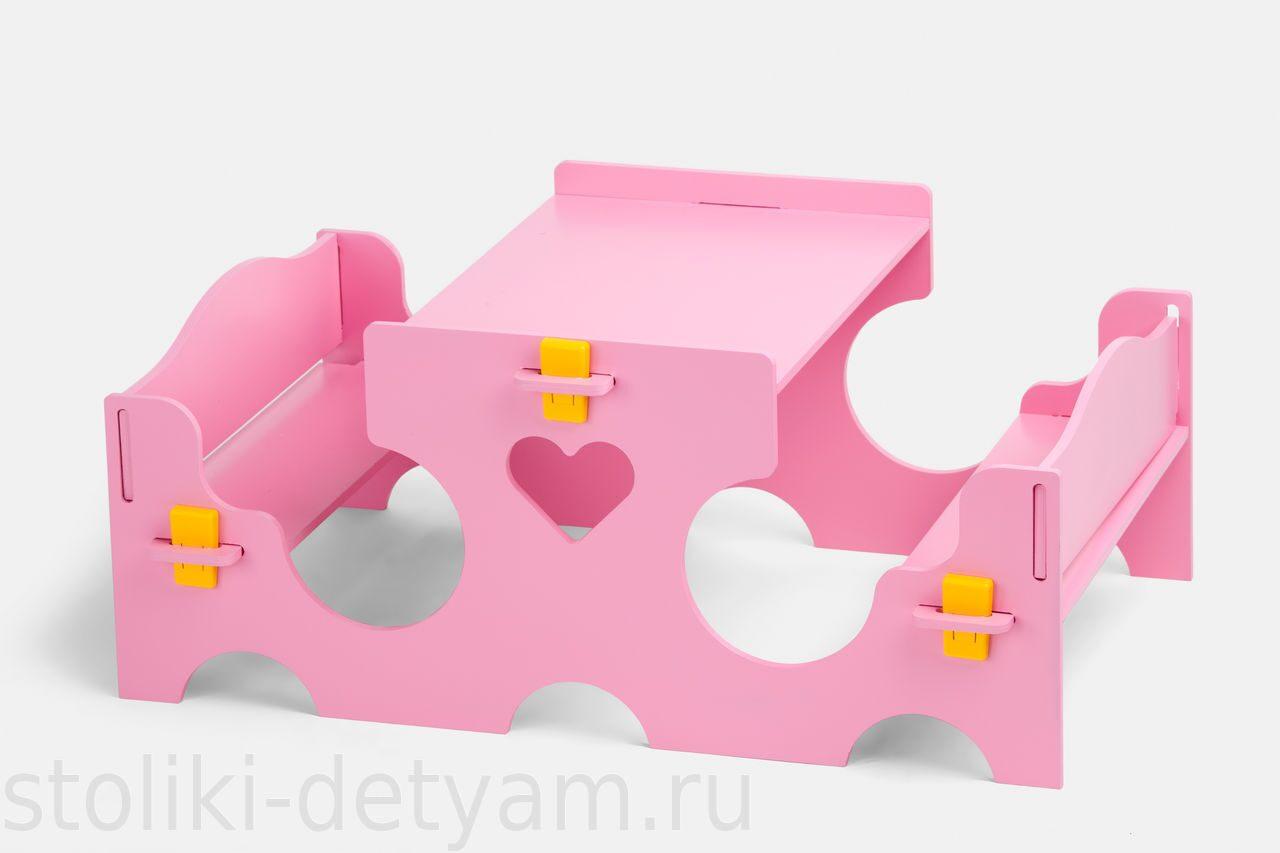 Кукольный столик, розовый КС-Р Столики Детям