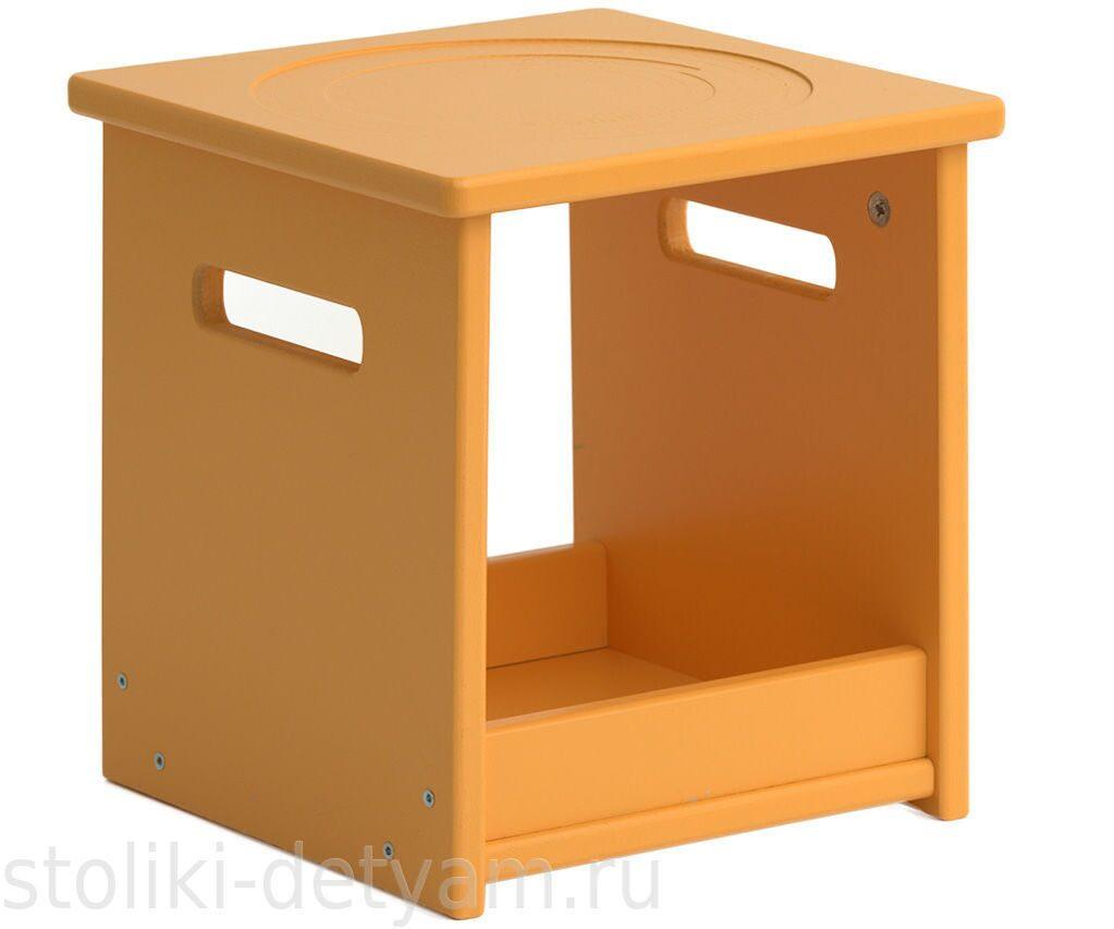 """Детский стул """"Кубик"""" оранжевый СК-О Столики Детям"""